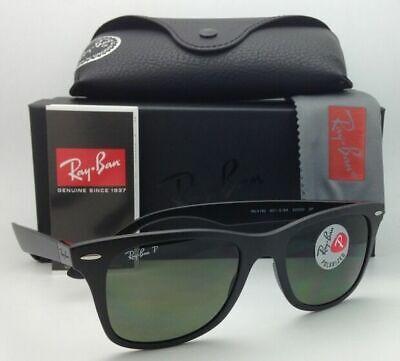 Polarized RAY-BAN Tech Series Sunglasses RB 4195 601-S/9A 52-20 Black with (Ray Ban Wayfarer Tech)