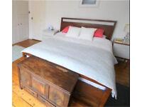 King size wooden frame bed