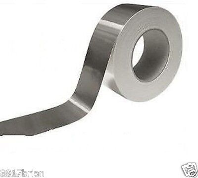 Lot Of 3 Rolls Aluminum Foil Heat Shield Tape 1.88 X 26 Ft. Each Free Shipping