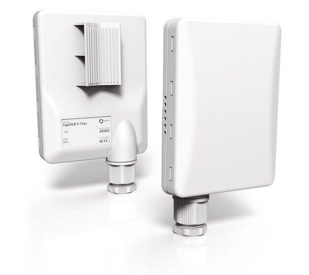 LigoWave LigoDLB 5-15ac integrated 2x15dbi antenna, 802.11 a/n/ac, 30dBm power
