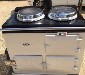 Gas AGA (2 oven) with water heater