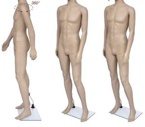 Full Size Body Plastic Male Mannequin with Thick Glass Stand. Exc Cond North Melbourne Melbourne City Preview