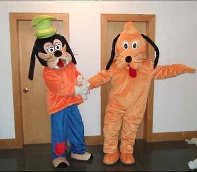 【SALE】 NEW GOOFY and PLUTO MASCOT COSTUME ADULT SIZE HALLOWEEN DRESS 2PCs - Adult Goofy Costume