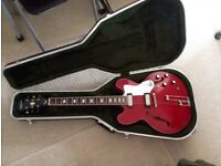 Epiphone Riviera Cherry Red 1997 manufactured by Peerless South Korea complete w/ Hard Case