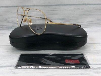 Ray Ban Aviator RX6489 2500 Gold / Demonstration Lens 58mm Eyeglasses