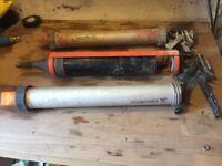 2 mortar guns & a spare cartridge