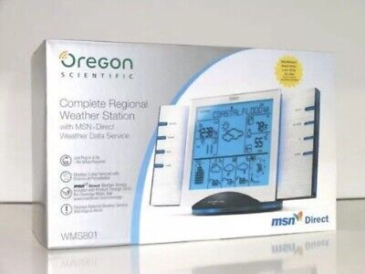 OREGON SCIENTIFIC WMS801 Complete Regional Weather Station-New In Box Complete Wireless Weather Station