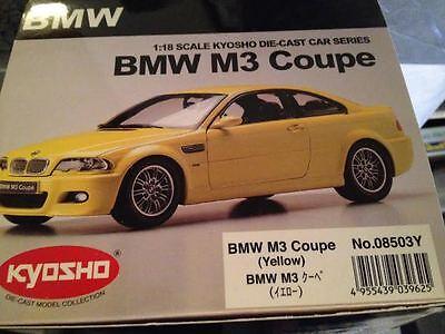 Kyosho BMW 3 Serie M3 Coupé E46 Giallo Metallico K08503Y 1:18 Molto Raro