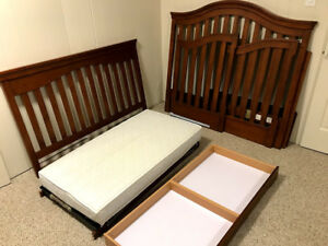 Young America Baby Crib convertible to Toddler Bed