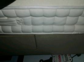 Single divan bed base with mattress