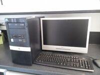 """desctop pc Intel Duel Core 1.8+1.8 cpu,2 gig ram,250gig hd 19""""monitor"""