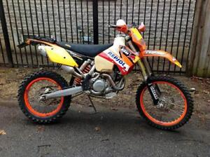'05 KTM 525EXC. Blue plated