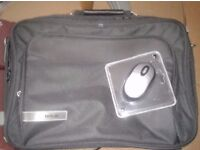 brand new laptop case and USB mouse. NEVER USED. TECH AIR BRAND