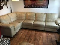Large cream modular corner sofa