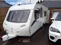 2012 STERLING EUROPA 550 5 BERTH TOURING CARVAN - FIXED BED - IMMACULATE!