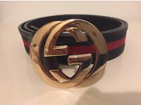 Black Gucci belt