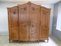 French Louis XV style Oak wardrobe