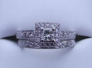 Genuine Diamond Engagement & Wedding Ring Set Valued $5080 Montmorency Banyule Area Preview