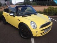2005 (55) MINI ONE 2.6 CONVERTIBLE, TWO TONE LEATHER INTERIOR, JUST BEEN MOT'D