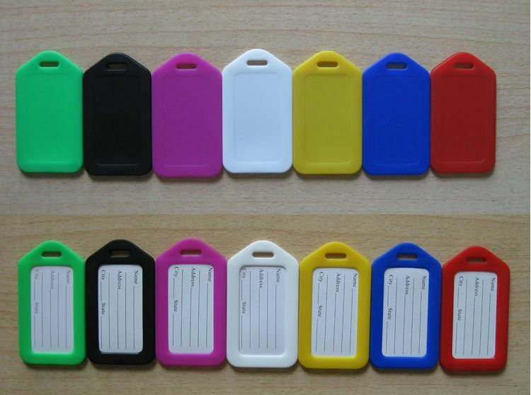 Купить 10 Travel Luggage Bag Tag Plastic Suitcase Baggage Office Name Address ID Label