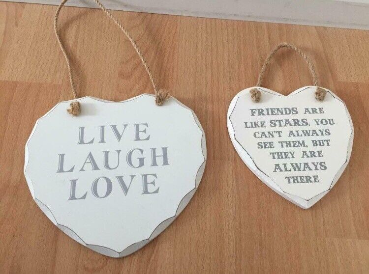 Friends wall heart signs/ or as gifts   in Blackwood, Caerphilly   Gumtree