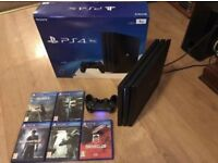 PS4 pro 1tb console with 5 games