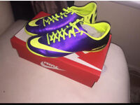 Purple Nike Mercurial Football boots size 8