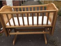 USED GOOD CONDITION ~ Baby crib with mattress