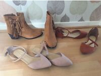 women's shoes, size 6, three for £10