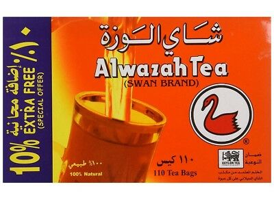 Alwazah Black Tea Swan Brand Finlays 100% Pure Ceylon 110 Bags Sri Lanka 2021 EX Sri Lanka Black Tea