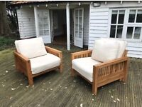 2 fantastic solid oak frame single futons by Futon company, lovely condition!