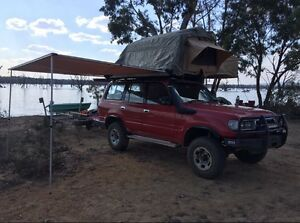 80 series Toyota landcruiser , dual fuel, family size roof top tent, Bacchus Marsh Moorabool Area Preview