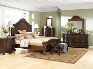 LUXURY bedroom set in acacia wood - PERFECT CONDITION