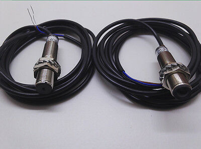 1 Pair Pnp M12 Laser Through Beam Photoelectric Sensor 200ma Cable Length 1.8m