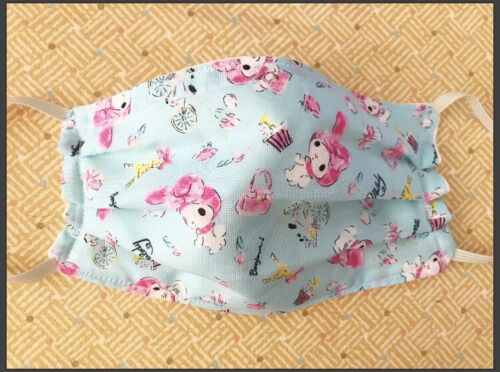 My Melody Handmade adult 3 Layer Hello Kitty Fabric Face Mask Sanrio