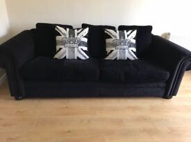 Click to view larger image Have one to sell? Sell it yourself Black DFS Sofa - Fantastic Condition