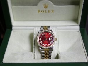 Rolex watches in gold with diamonds