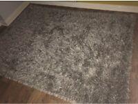 Next glisten silver rug 230x170 rrp £185