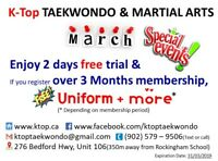 K-Top Taekwondo and Martial arts March special events