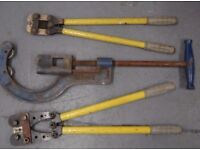Heavy duty Pipe cutters and Bolt cutters