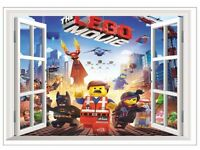BRAND NEW wall sticker 3D size 70x50cm LEGO