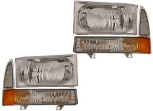 FORD SUPERDUTY F250 F350 HEADLIGHTS 1999 2000 2001 2002 2003
