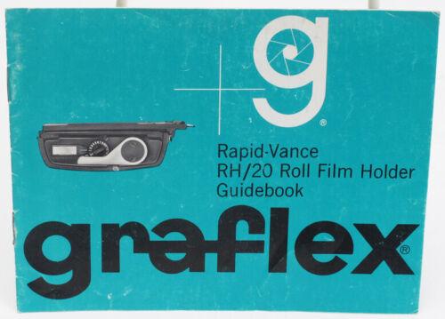 Genuine Original Graflex Rapid Vance RH/20 Roll Film Holder Instruction Manual