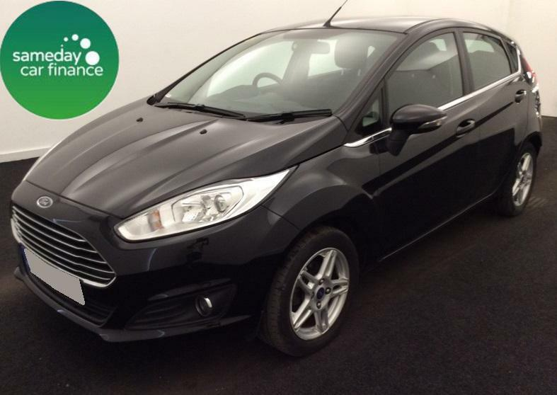 £159.26 PER MONTH BLACK 2013 FORD FIESTA 1.6 POWERSHIFT ZETEC 5 DOOR PETROL AUTO