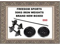 50KG CAST IRON WEIGHTS SET £60
