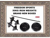 50KG CAST IRON WEIGHTS SET £60
