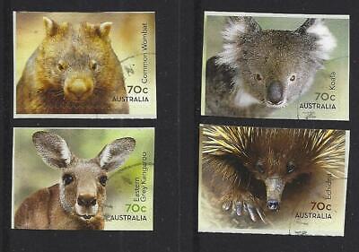 AUSTRALIA 2015 NATIVE ANIMALS SELF ADHESIVE SET OF 4 FINE USED