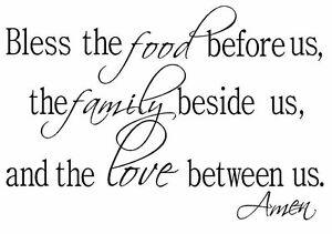 Bless The Food Family Love Vinyl Wall Art Decal Decor ...