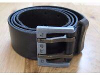 Diesel black leather belt