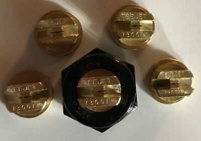 Teejet Tp730077 Spray Tip Brass Lot Set Of 5 With Free Caps